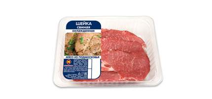 Шейка свиная Останкино нарезанная охлажденная ~ 1 кг
