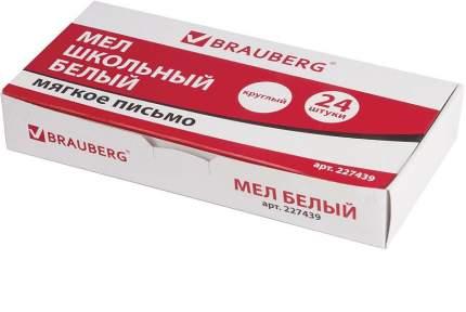 Мел белый BRAUBERG 227439 мягкое письмо набор 24 шт. круглый