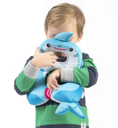 Подушка для путешествий Benbat 1-4 года, Акула, голубой