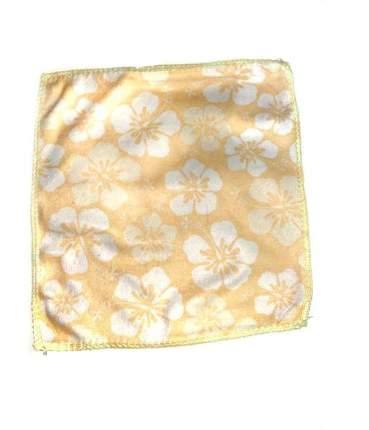 Салфетка из микрофибры с принтом, 25х25 см (Бежевый, Узор: Белый принт)