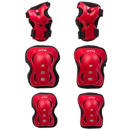 Комплект защиты STG YX-0308; красный; M