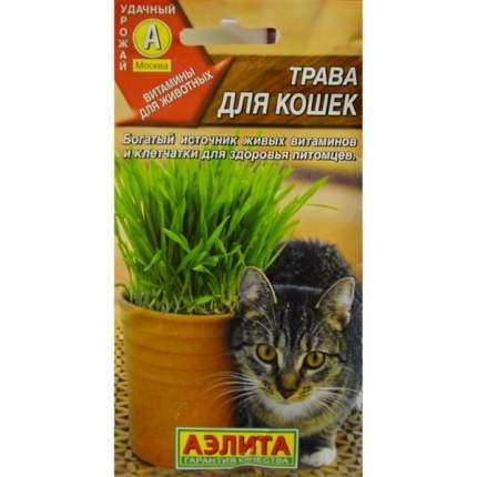 Семена газонных трав и сидератов Аэлита Трава для кошек
