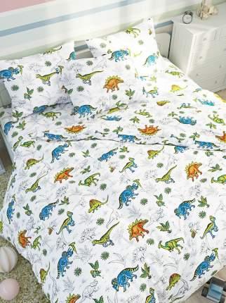 Пододеяльник Сказка Динозавры- 1,5-спальный на молнии 145х215 см