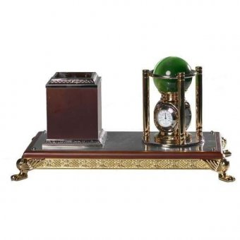 Подставка под ручки с часами, гидрометром и барометром Магический шар