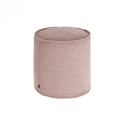 Бескаркасный пуф-цилиндр La Forma Zizi L, вельвет, Розовый