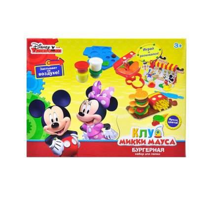 Disney Набор для лепки Клуб Микки Мауса Бургерная масса для лепки - 6 цв.