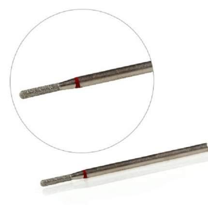 Фреза алмазная KrasotkaPro «Цилиндр закругленный» D=2,3 мм, красная