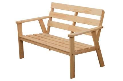 Садовая скамья-софа InterLINK Ньюпорт 2- местная Сосна, Натуральный