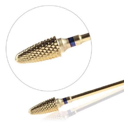 Фреза твердосплавная KrasotkaPro «Золотая кукуруза» D=6,4 мм, синяя