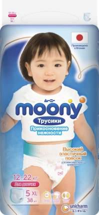 Трусики для девочек MOONY одноразовые 12-22 кг XL 38 шт.