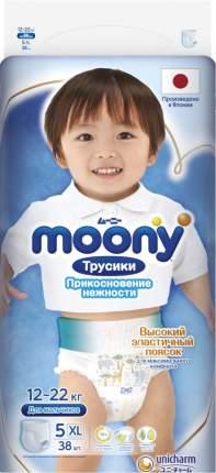 Трусики для мальчиков MOONY одноразовые 12-22 кг XL 38 шт.