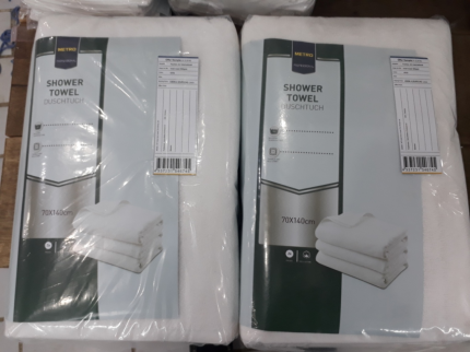 Полотенце Metro Professional 70 х 140 см хлопок белое
