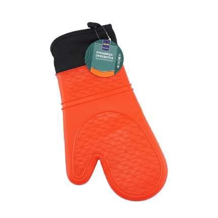 Рукавица-прихватка Metro Professional жаропрочная силикон оранжевый