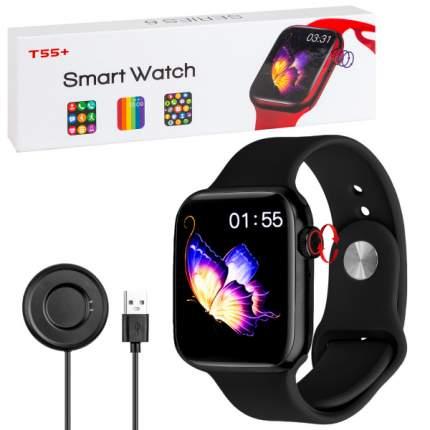Умные смарт-часы T55+ Smart Watch Series 6 (черные)