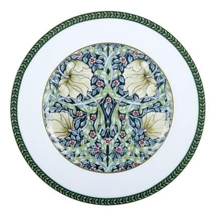 Тарелка десертная Коралл Primrose фарфор бело-зеленая 19 см
