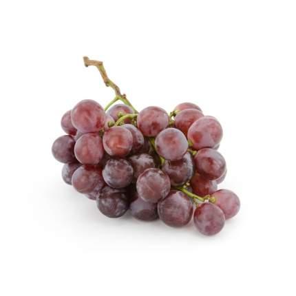 Виноград красный без косточек в корзинке 500 г