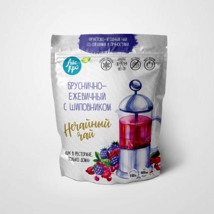 Замороженная смесь фруктов и ягод Айскро Нечайный чай брусника-ежевика-шиповник 150 г
