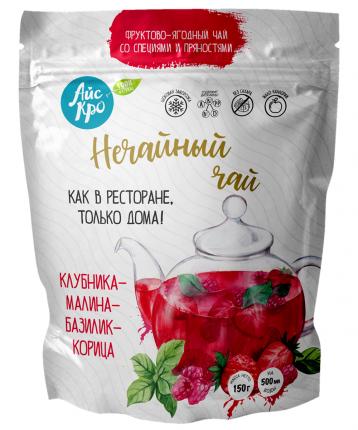 Замороженная смесь фруктов и ягод Айскро Нечайный чай малина-клубника-корица 150 г