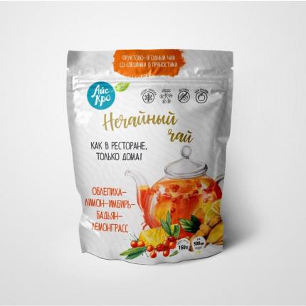 Замороженная смесь фруктов и ягод Айскро Нечайный чай облепиха-лимон-имбирь 150 г