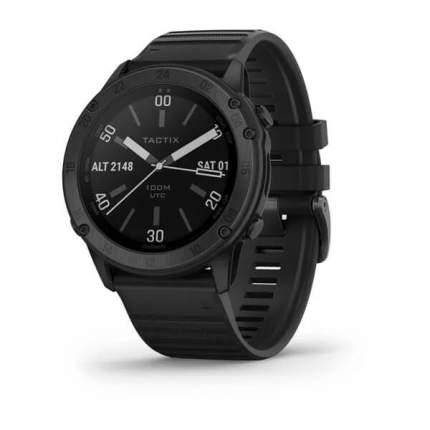 Часы Garmin tactix Delta - Sapphire Edition Черное DLC-покрытие с черным ремешком