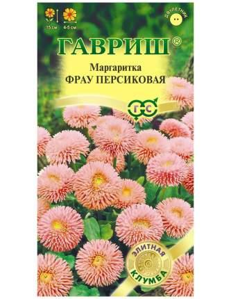 Семена цветов Гавриш Маргаритка Фрау Персиковая 10 пакетов по 5 гранул