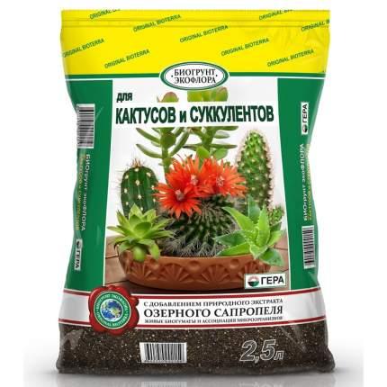 """Биогрунт """"Гера. Для кактусов и суккулентов"""", 2,5 литра"""