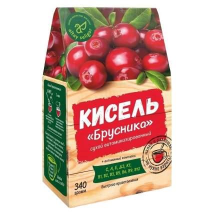 """Кисель сухой, витаминизированный Altay Seligor """"Брусника"""", быстрого приготовления, 340 г"""