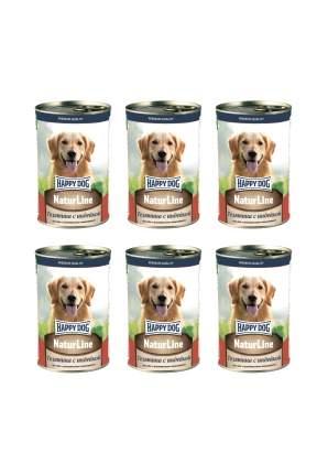 Влажный корм для собак Happy Dog , индейка, телятина, 6шт, 410г
