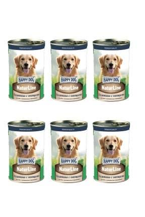 Консервы для собак Happy Dog , телятина, овощи, 6шт, 410г
