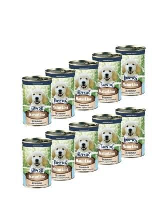 Консервы для щенков Happy Dog , телятина с печенью, 6шт, 410г
