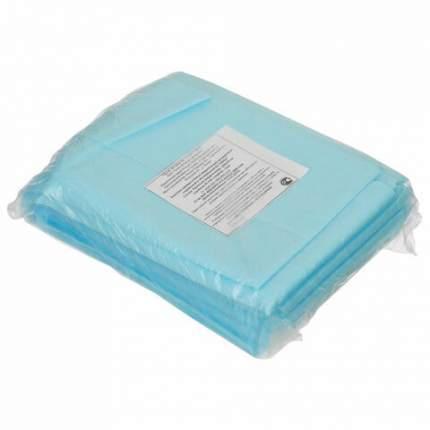 Простыни одноразовые ГЕКСА нестерильные комплект 10 шт. 70х200 см спанбонд 25 г/м2 голубые