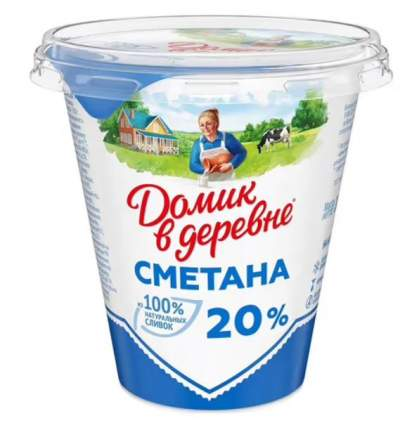 Сметана Домик в Деревне 20%, 300гр