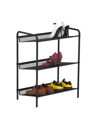 """Подставка для обуви 3-х полочная ЗМИ """"Женева 13"""", цвет черный"""