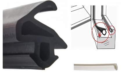 Уплотнитель для окон ПВХ, KBE-228, черный, 10 м + Шнур заглушка, белый, 10 м (КОМБО НАБОР)