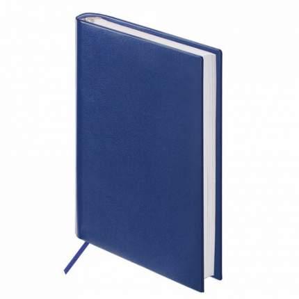 Ежедневник недатированный МАЛЫЙ ФОРМАТ 100х150мм BRAUBERG Select балакрон 160л темно-синий