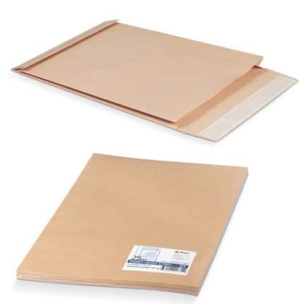 Конверт-пакеты С4 объемные (229х324х40 мм), до 250 л, крафт-бумага, отрывная полоса, 25 шт