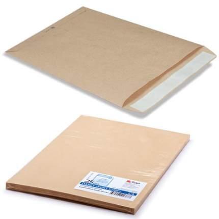 Конверт-пакеты С4 плоские (229х324 мм), до 90 л, крафт-бумага, отрывн.полоса, 25 шт