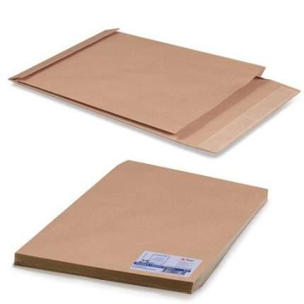 Конверт-пакеты Е4+ объемный (300х400х40 мм) до 300 л, крафт-бумага, отрывн.полоса, 25 шт