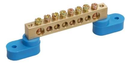 Клеммная шина IEKN ноль на двух угловых изол ШНИ-6х9-8-У2-С