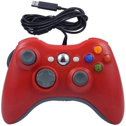 Геймпад  проводной для Xbox 360, красный. Controller for для Xbox 360
