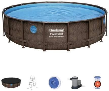 Каркасный бассейн Bestway Power Steel 56977 549x549x122 см