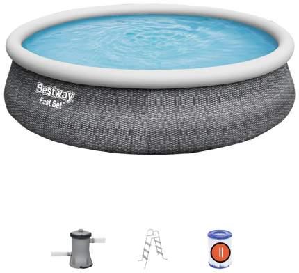Надувной бассейн Bestway Fast Set 57372 457x457x107 см