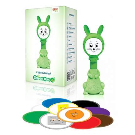 Интерактивная развивающая игрушка для малышей BertToys Умный Зайчик Няня PRO FD110/Зеленый