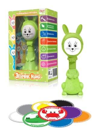 Интерактивная развивающая игрушка для малышей BertToys Зайчик Няня FD125/Зеленый