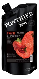 Пюре из клубники Ponthier Strawberry замороженное 1 кг