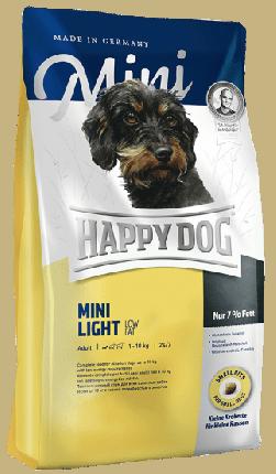 Сухой корм для собак Happy Dog Mini Light, птица, лосось, ягненок,  0.3кг