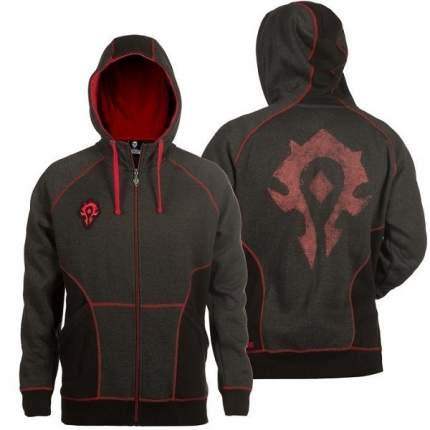 Худи на молнии World of Warcraft Horde Classic Premium Charcoal Heather-Red (XS)