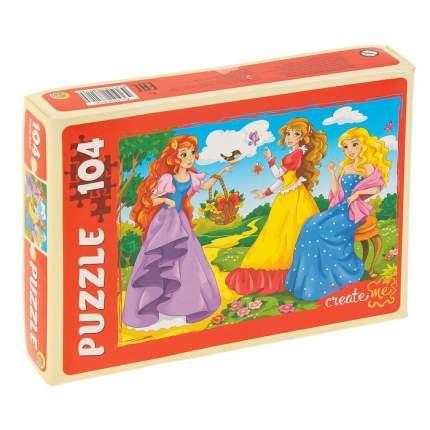 Пазлы Дружные принцессы, 104 элемента