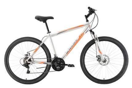 """Велосипед Black One Onix 26 D 2021 18"""" серый/оранжевый"""