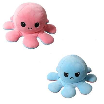 Мягкая игрушка Осьминожка перевертыш, розовый голубой